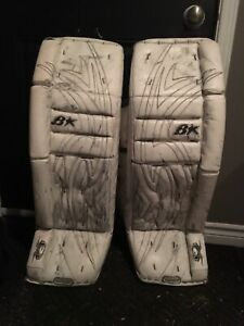 Brian's goalie pads. Simmons glove and blocker