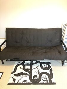 Black Metal Futon from clean and smoke free home