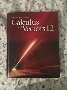 McGraw Hill-Ryerson Calculus and Vectors textbook