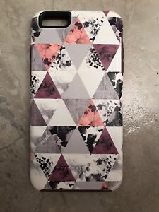 iPhone 6 / 6S Otterbox case Festival Boho Purple White Geometric