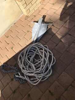 Anchor chain and rope