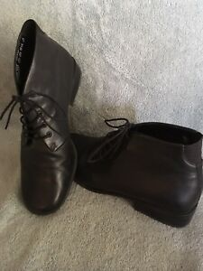 Easy Spirit Black Leather Booties