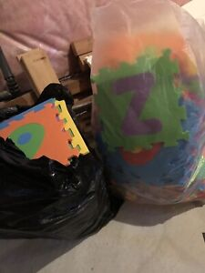 2 Large bags of floor mat letters and numbers
