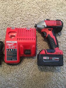 Milwaukee impact with 4.0 battery and charger