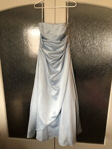 Sky blue full length gown