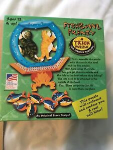 Fishbowl Frenzy -A Trick Jigsaw Puzzle made by Stave Design