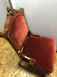 Antique carved entranceway chair