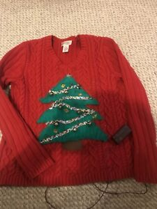 Light up ugly Christmas party sweater