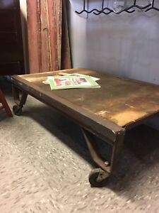 Antique railway cart $150 great coffee table project