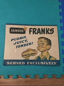 Armour Frank's Antique Tin Sign - Immaculate