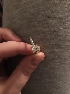 Princess engagement ring .70 white gold