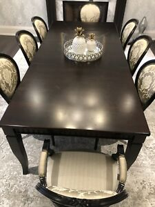 Elegant Dining Room Table and Chairs