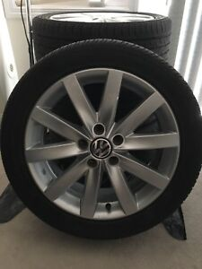 17 inch volkswagen alloy wheel with tire