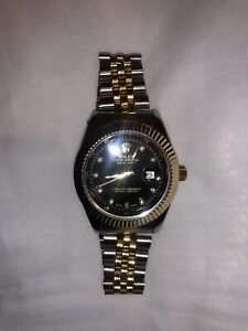"""Rolex """"Datejust"""" Two-Tone Diamond Watch *NOT OFFICIAL ROLEX PRODUCT*"""