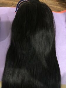 "20"" stright human hair full lace wig"