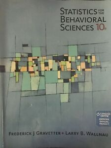 statistics for the behavioral sciences 10th edition