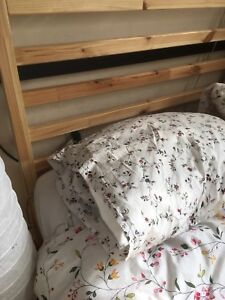 Twin size bed frame with mattress
