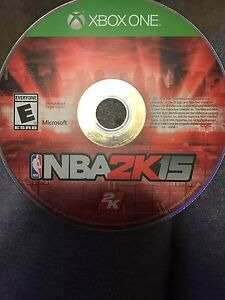 Xbox One NBA 2K15 with no case for disc. But great condition!!