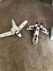 Lego Imperial Shuttle and Republic Gunship