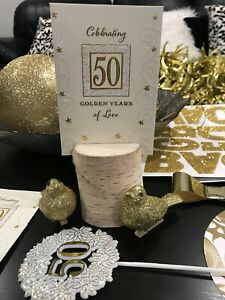 50TH ANNIVERSARY Decorations!   Everything you need $50.