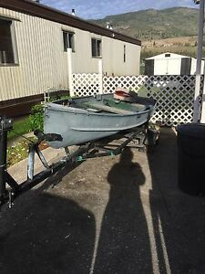 12, aluminum fishing boat and trailer