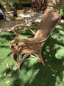 Antique cane armchair