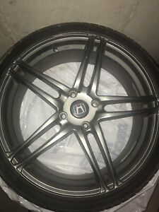 Set Of Wheels 19 Inch Rims Great Tread On Tires