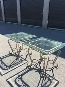 Elegant Glass Top Coffee Table Set