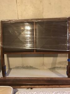solid wood sleigh like headboard and footboard with frame