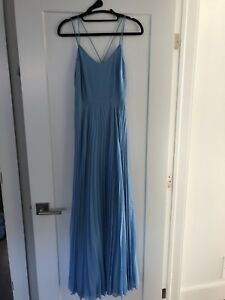 Blue pleated maxi dress from ASOS