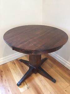 """36"""" Solid wood custom table from st Jacobs less than year old"""