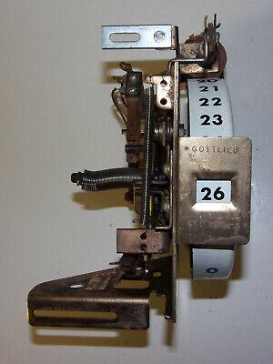Credit or REPLAY UNIT STEPPER - Gottlieb COVER GIRL Pinball Machine (26 credits)