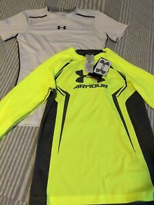 Under Armour T-shirt and long sleeved fitted shirt, never worn