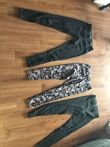 Love pink tights and two pairs of garage tights size medium