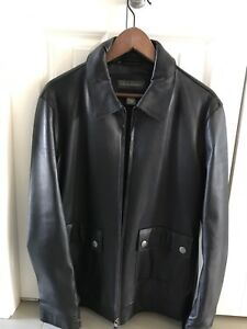 Black Leather Banana Republic Jacket -like new