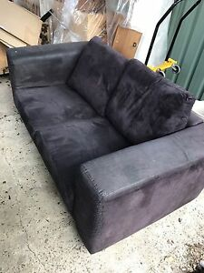 Brown 2 seater couch free Westmeadows Hume Area Preview