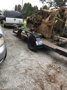 Car trailer for sale needs one spindle welded on