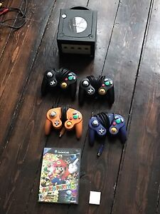 Gamecube with 4 controllers mario party 6. Will part