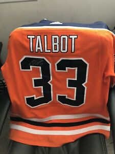 Can Talbot signed oilers jersey 1bfcee79c
