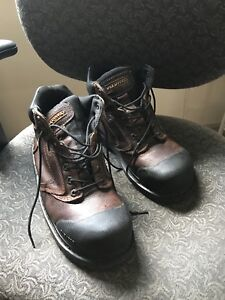 Mens size 10 steel toe work boots