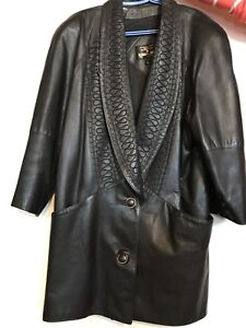 Women's vintage leather coat - made in Canada