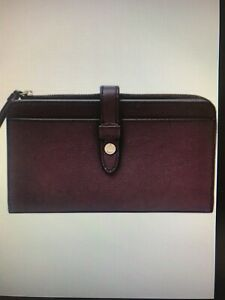 FOSSIL brand FIONA leather tab clutch
