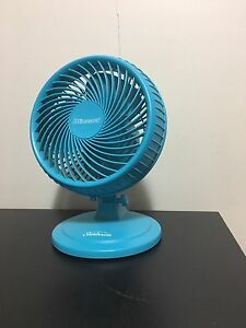 "8"" blue Sunbeam oscillating fan"
