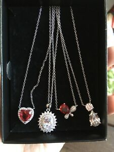 Steing silver necklaces