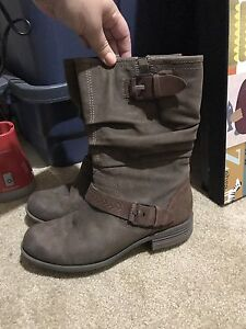 Nubuck leather boots. Mint, size 10. $50 OBO