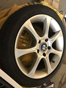 """17"""" bmw tagged rims and tires"""