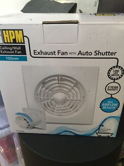 HPM Ceiling/Wall Exhaust Fan with Auto Shutter