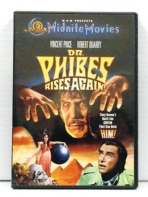 Dr. Phibes Rises Again DVD 2001 Midnite Movies Vincent Price Peter Cushing
