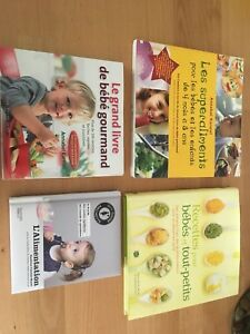 4 beaux livres recettes pour bébé 15$ le lot