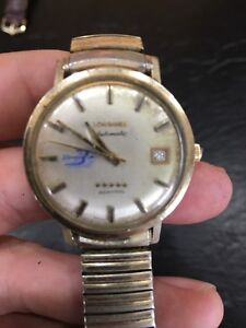 Vintage longines automatic gold watch